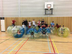 Bubbelbal bubble voetbal gymles