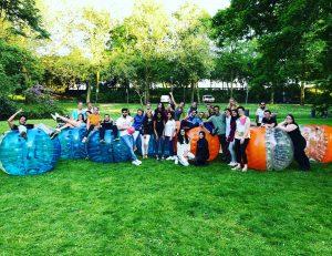 Bubbel voetbal en Archery tag in Rotterdam Euromastpark