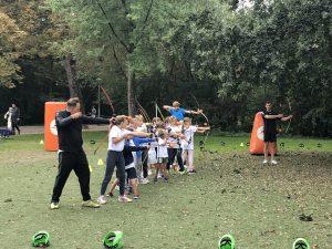 Archery tag en bubbelbal in Amsterdam Vondelpark
