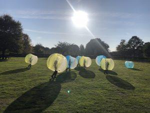 Bubbelbal voetbal in Utrecht huren vrijgezellenfeest